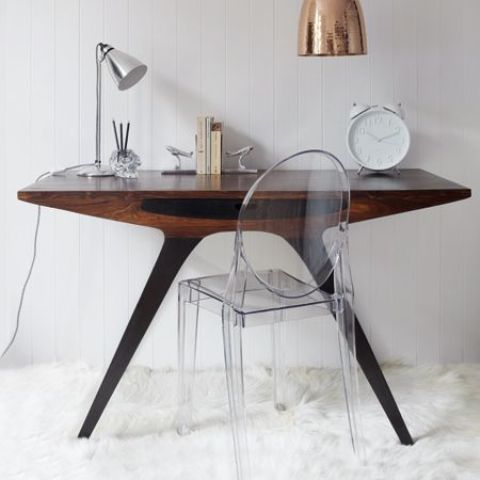 Attractive Mid Century Modern Desk Home Office Decor