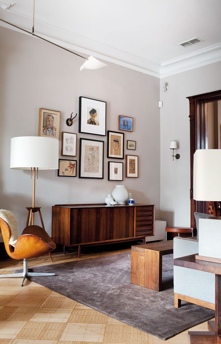 Awesome Mid Century Modern Furniture family Room Prospect Park Townhouse