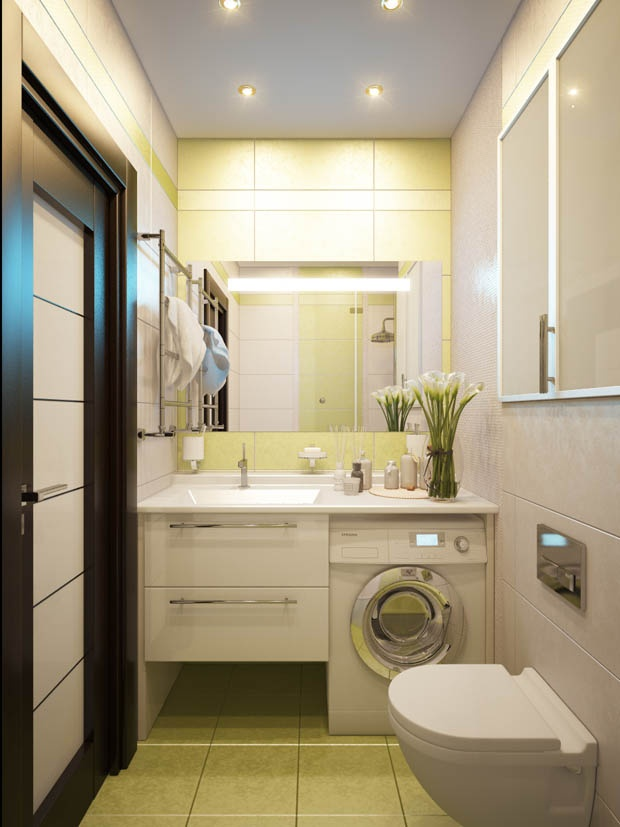 Bathroom design with washer and dryer decorating small space for Washer and dryer in bathroom designs