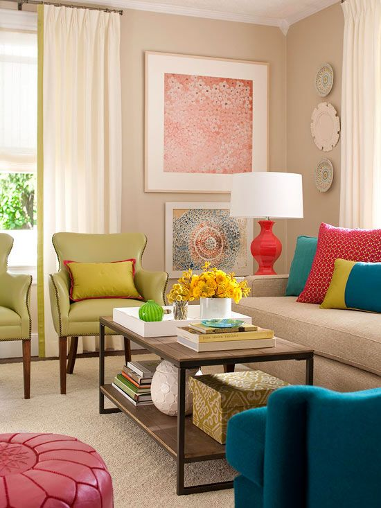 Beautiful paint colors completely transform your living room