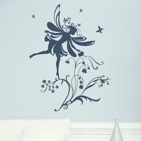 Bedroom Wall Stickers Fairy Flowers Decal