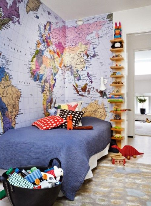 Bedroom Wall Stickers Real Wall Map