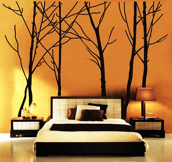 Bedroom Wall Stickers Tree Wall Decal Forest Vinyl Sticker
