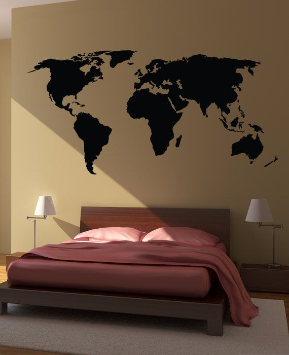 Bedroom Wall Stickers World Map Wall Decal Sticker World Country Atlas
