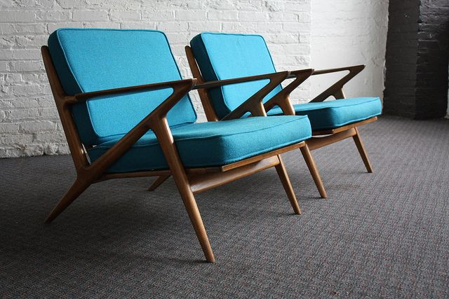 Best danish mid century modern poul jensen z chairs for Z chair mid century