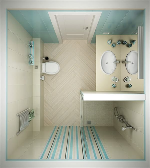 30 small bathroom floor plans ideas small room decorating ideas - Bathroom remodel small space plan ...