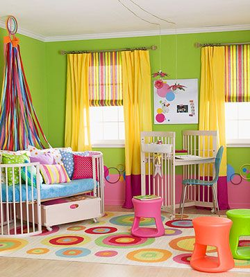 Colorful Girl Bedroom Ideas All the Colors in the Rainbow room for any little lady