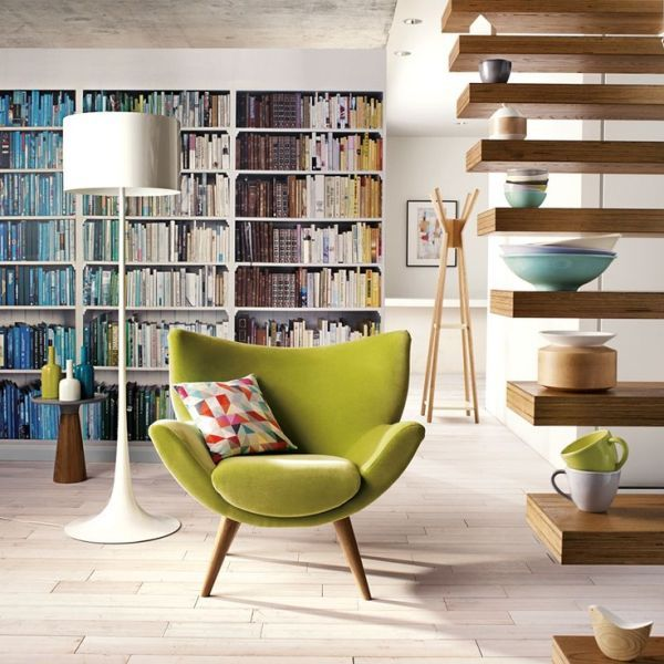 Cute Distinctive Mid-Century Pieces Green Chair