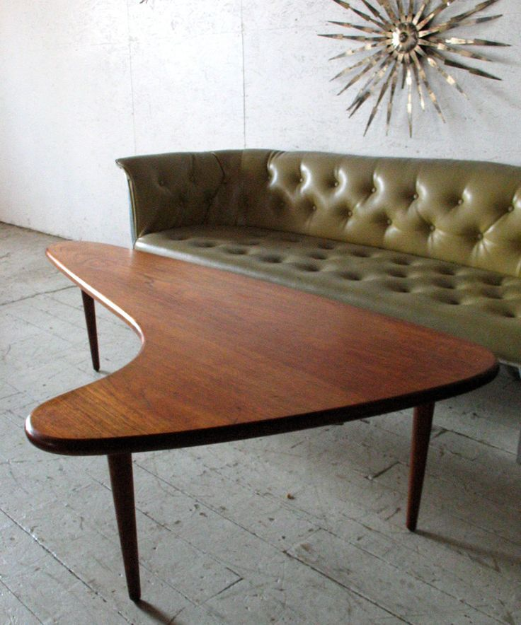 Danish Mid Century Modern Furniture Teak Boomerang Coffee Table