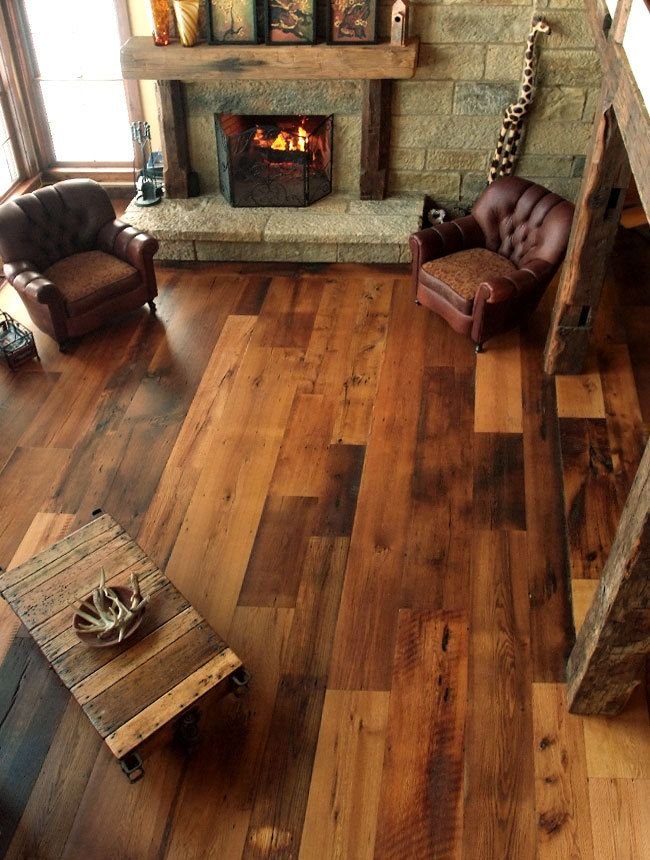 Fantastic Hardword Flooring for Living Room with Fireplace