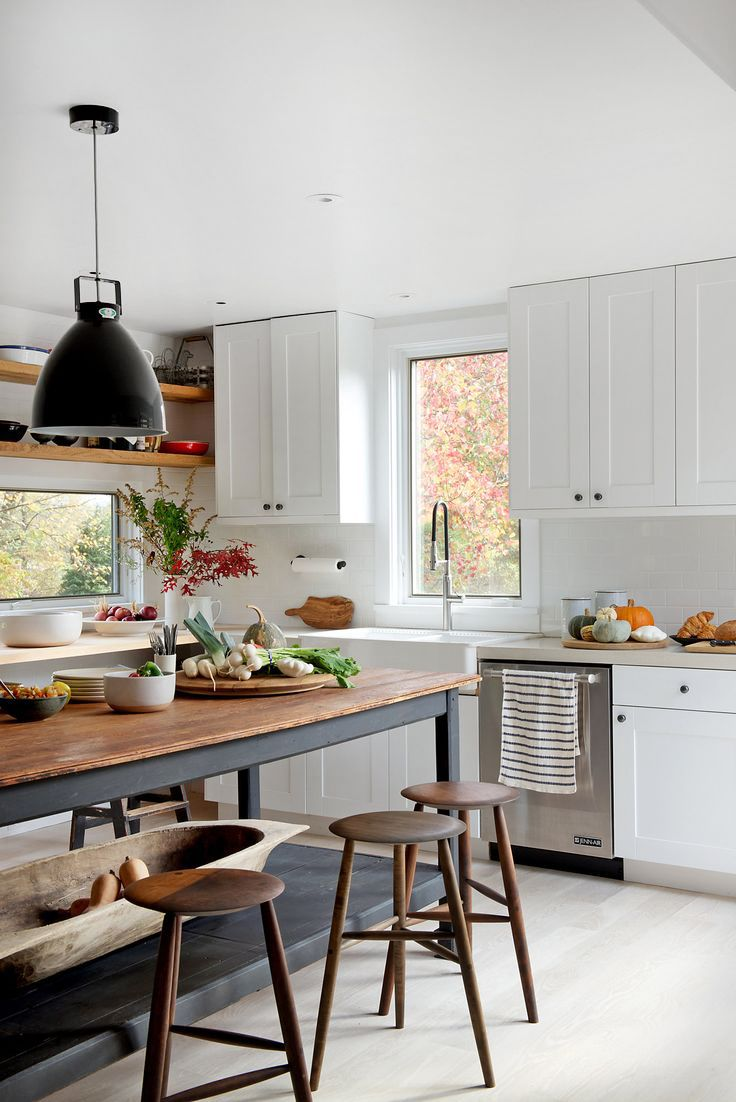 Farmhouse Mid Century Modern Kitchen Design And Industrial Touches