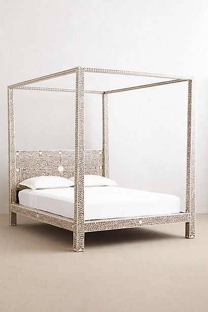 Four Poster Bed Anthropologie Bone Inlay Style Bedroom Pictures 04