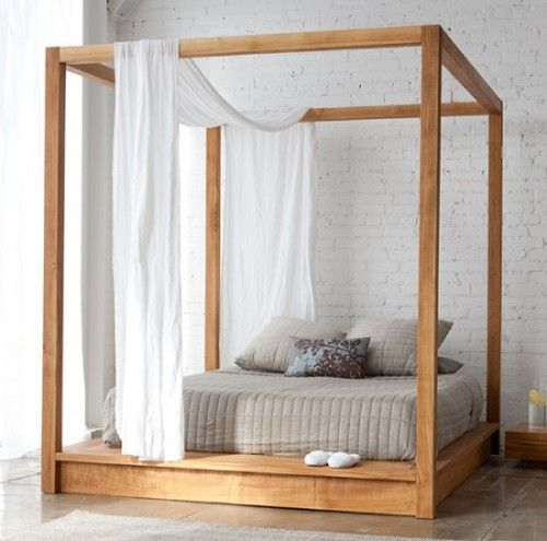 Four poster bed dimensions simple enough for diy and you could add draws at the base