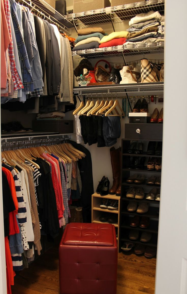 Small walk in closet ideas organization tips small room - Small master closet ideas ...