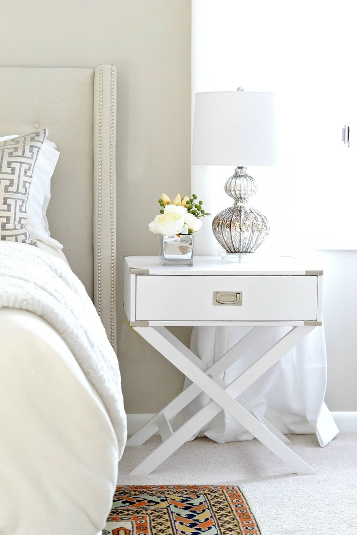 Genius White Bedroom Furniture with a Mixture of Repurposed Thrift Store Furniture