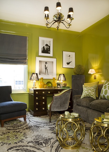 Choosing A Living Room Decor Theme: Green Paint Colors For Living Rooms Images