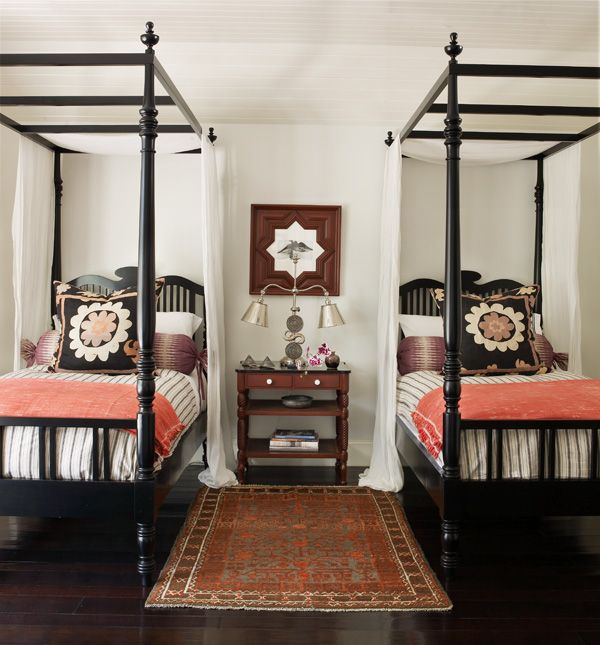 Inspiring four poster bed guest bedroom design european feel