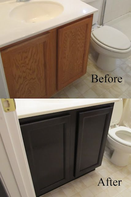 Laminate Floors Bathroom and or Kitchen Cabinets Before and After
