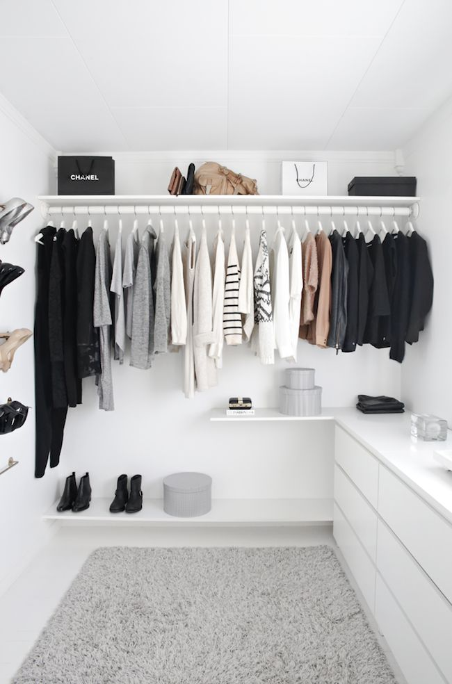 Minimalis Walk in Closet Design Ideas White