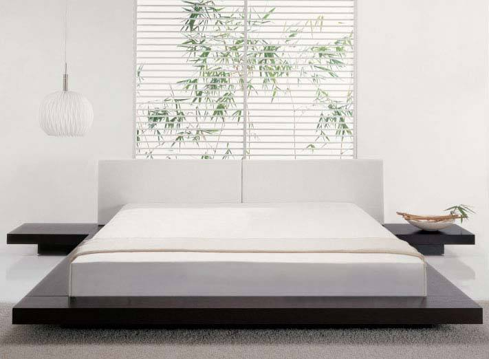 Minimalist designer white bedroom furniture modern style images 011