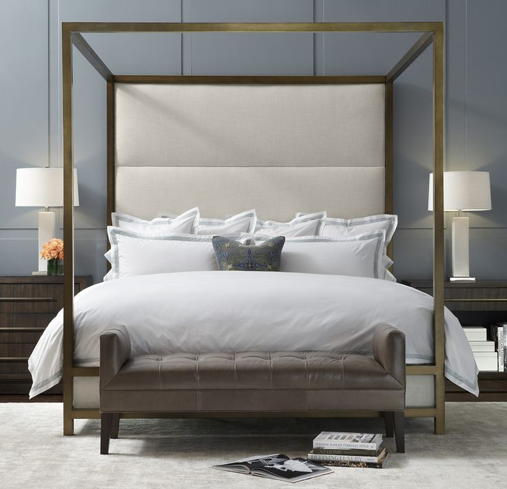 Modern 4 poster bed bedroom design Images