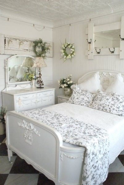 Modern Shabby Chic Bedroom Beach Home Images 011