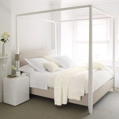 Modern four poster bed master bedroom decorating ideas