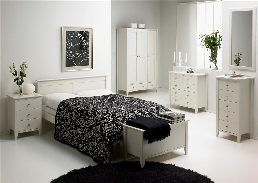 Modern white bedroom furniture color schemes photos 12