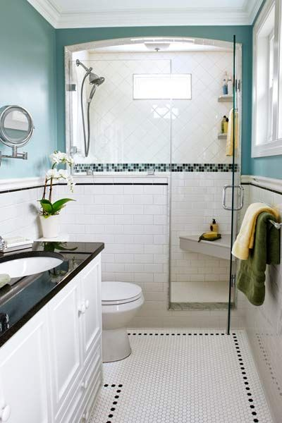 Nice small bathroom remodeling tips enclosed shower idea for Nice small bathrooms