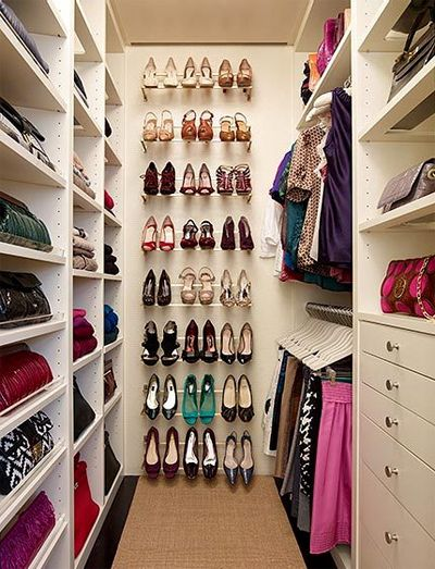 Organize Small Walk in Closet Ideas Find What Shoes Would Go Best with your Outfit