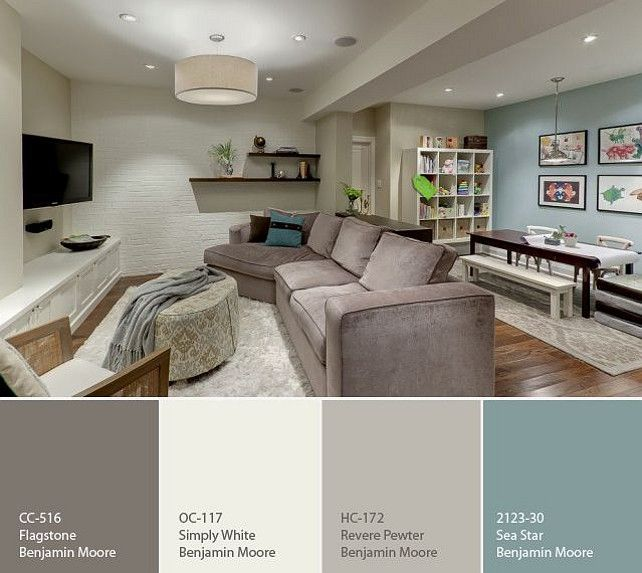 Paint colors for living rooms great color palette for basement - Choose color scheme every room ...