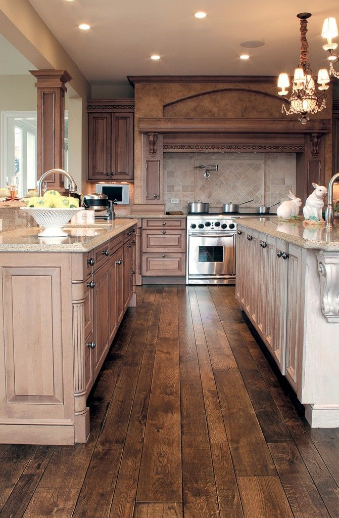 Perfect Hardwood Flooring Stunning Kitchen Designs Pictures