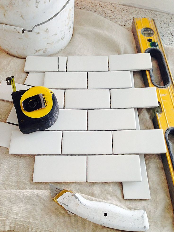 planning to install subway tile backsplash using mini tile