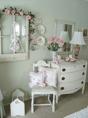 Shabby chic bedroom accessories cute window on wall Shabby chic bedroom accessories