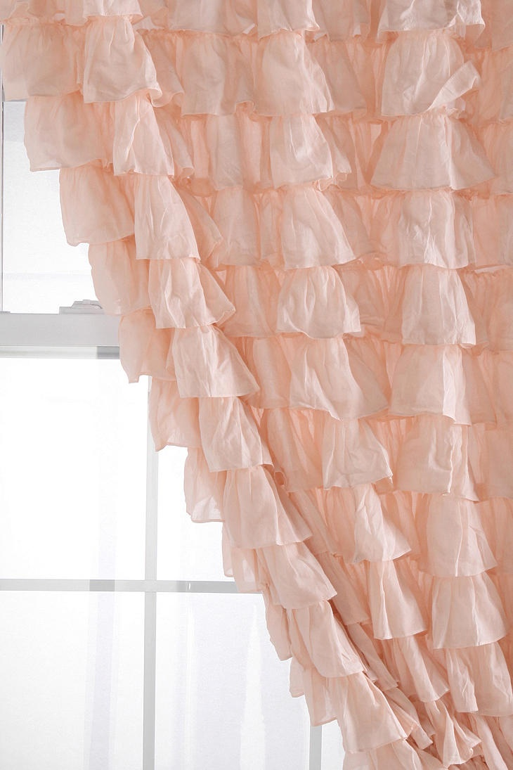 Shabby Chic Bedroom Curtains Waterfall Ruffle Curtain images 10