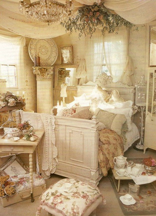 shabby chic bedroom makeover decorating ideas images 012