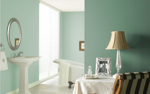 Simple and neutral bathroom wall paint color ideas photos 10