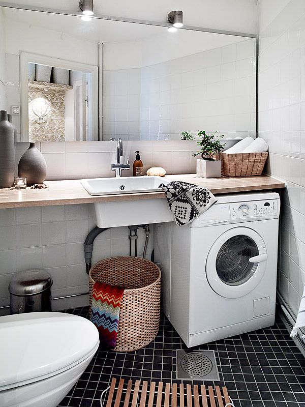 Small Bathroom Designs With Washing Machine Perfect Counter Over The Washing Machine