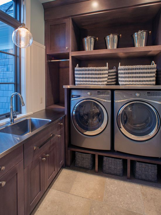 Small Bathroom Designs with Washing Machine Transitional ... on Small Space Small Bathroom Ideas With Washing Machine id=44408