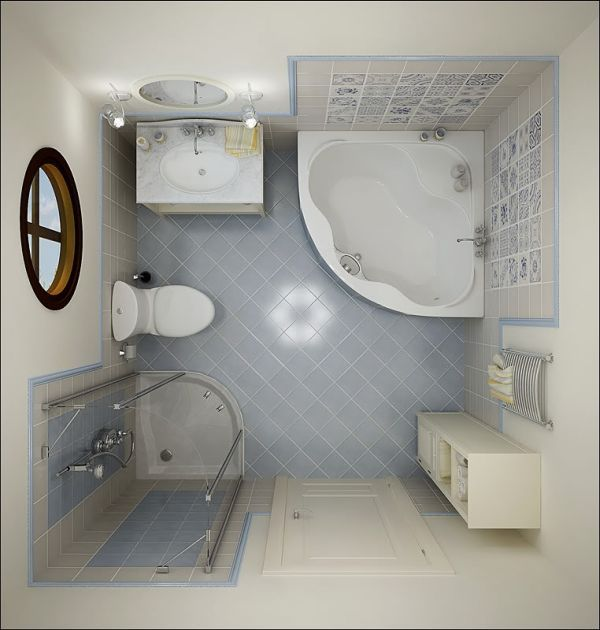 Small Bathroom Floor Plans with Tub and Shower Pictures