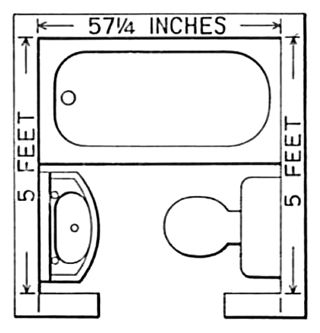 Small Bathroom Floor plans with Tub Ideas 57 Inches Pictures