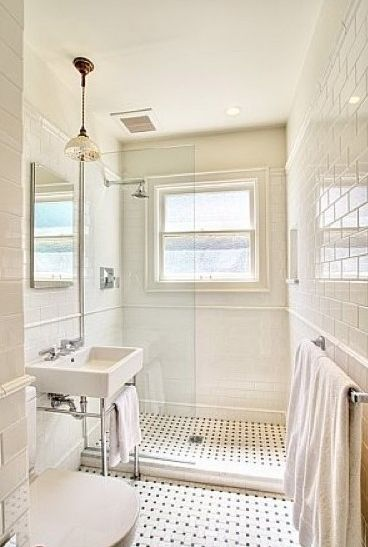 Small Bathroom Remodeling Images Make Look Bigger with White Wall