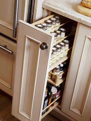 Small Kitchen Cabinets Design Pantry Pullout Good Way to Utilize a Small Cabinet Space