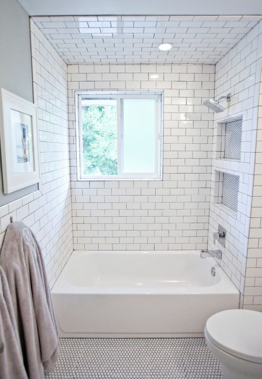 Bathroom subway tile joy studio design gallery best design for Small bathroom tiles