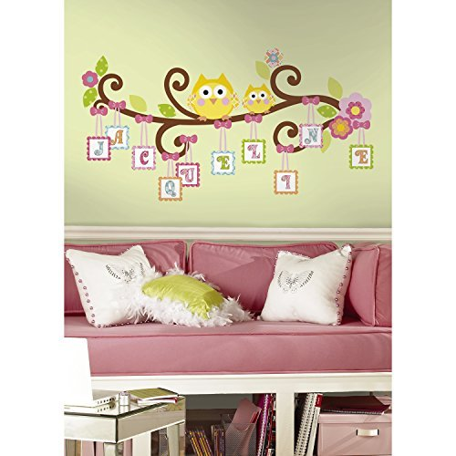 Stick Giant Wall Decal for Children's Room - RoomMates RMK2079GM Scroll Tree Letter Branch Peel