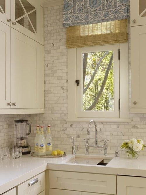 Simple Subway Backsplash Standard 3x6 White Subway Tile The Ceiling Behind The Open Shelves And