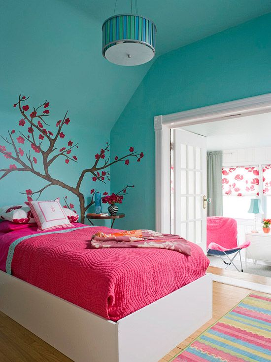 Colorful girl bedroom design ideas teenage girl bedroom colors designed their bedrooms with - Girl colors for bedrooms ...