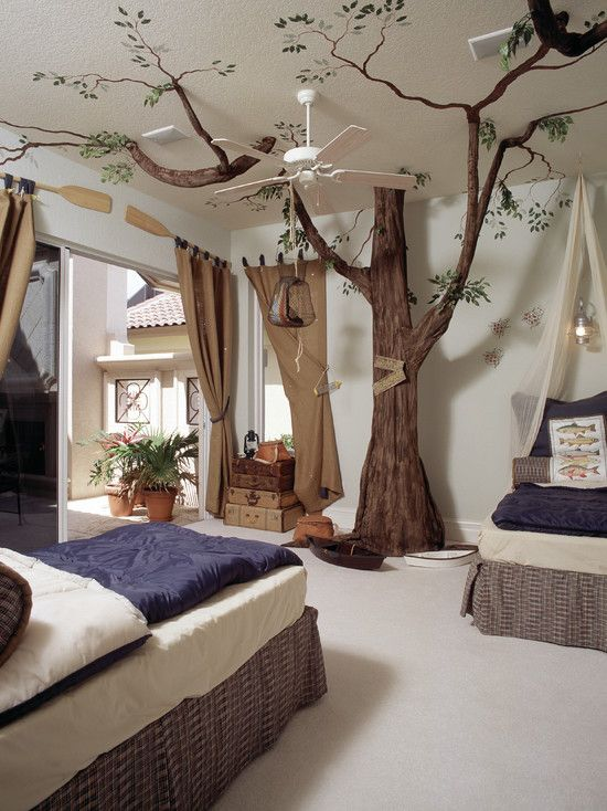 Traditional Outdoor Ceiling Fans for childrens - Tropical Bedroom Furniture pic 014