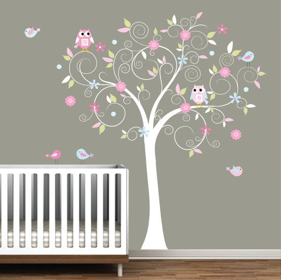 Tree Wall Decal for Bedroom Decal Stickers Vinyl Wall Decals Nursery Tree
