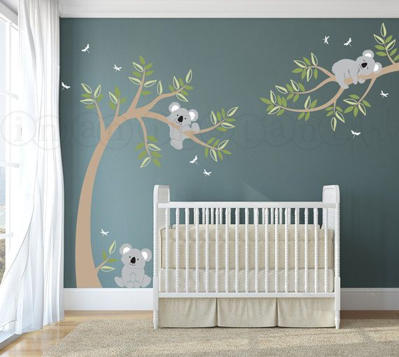 Tree Wall Decal for Children's Room Koala Bear Wall Decals